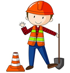 Construction worker vector image