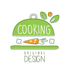 Cooking logo original design with cookware and vector
