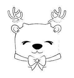 cute reindeer christmas character vector image
