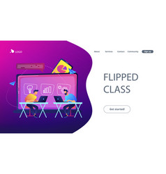 digital learning concept landing page vector image