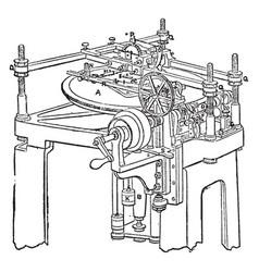 Dividing engine vintage vector