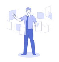 document management data system concept vector image