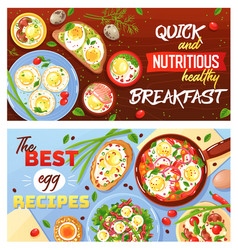 egg dishes horizontal banners vector image