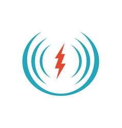 electric shock icon logo design icon symbol for vector image