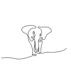 elephant walking symbol vector image