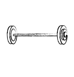 Figure dumbbell fitness tool to do exercise and vector