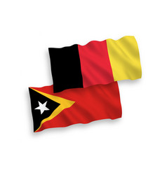 Flags belgium and east timor on a white vector