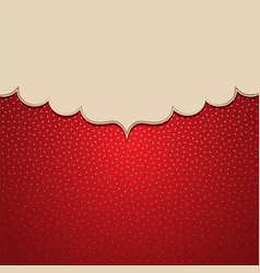 Frame on a background with golden polka dots vector
