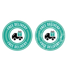 Free delivery retro grunge badge vector