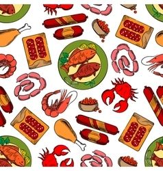 Gastronomy seamless wallpaper background vector