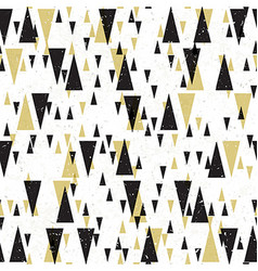 Geometric seamless pattern Gold and black vector image
