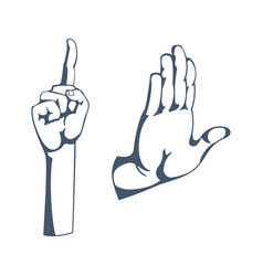 gestures sign of attention stop thinking vector image