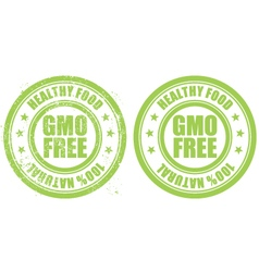 Grunge rubber stamp with inscription GMO free vector