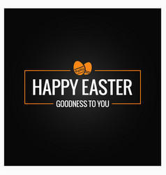 happy easter frame on black background vector image