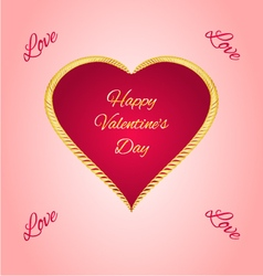 Happy Valentine day gilded heart vector image