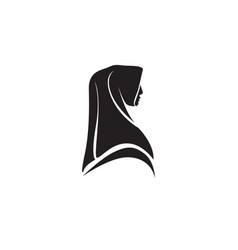 hijab black logo vector image