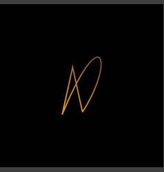 Initials logo letter ad is elegant vector