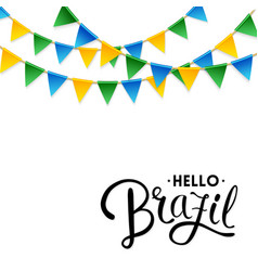 Isolated hello brazil background vector