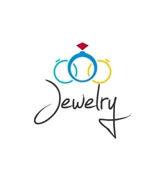 Jewelry logo isolated on white vector image