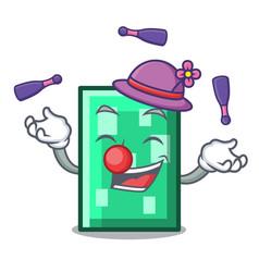 Juggling rectangle mascot cartoon style vector