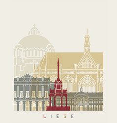 liege skyline poster vector image