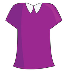 Lilac blouse or color vector
