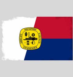 memphis city flag vector image