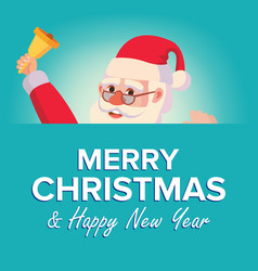 merry christmas santa claus greeting card vector image