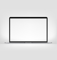 modern premium thin laptop mockup isolated on vector image