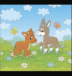 Neddy and calf vector