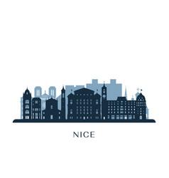 nice skyline monochrome silhouette vector image
