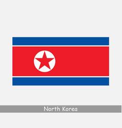 North korea korean dprk national flag vector