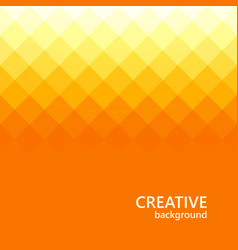 orange background abstract color mosaic triangle vector image