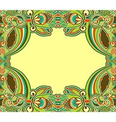 Oriental ornamental floral vintage frame design vector