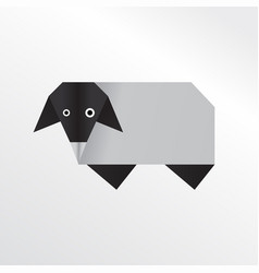 Origami sheep vector