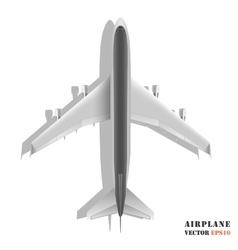 Passenger airplane isolated on white background vector image