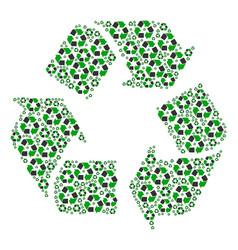 Recycle arrows icon shape vector
