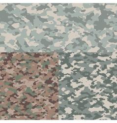 set camouflage patterns vector image