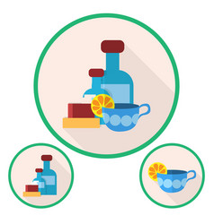 set of flu icons vector image