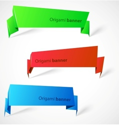 set origami banners vector image
