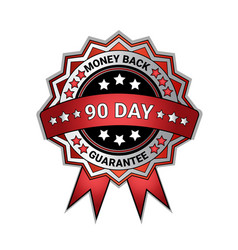 silver medal money back in 90 days guarantee vector image