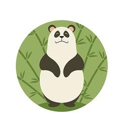 Smiling panda vector