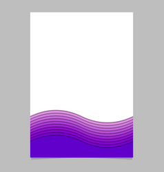Stationery template from wave stripes - brochure vector