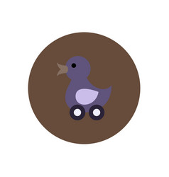 stylish icon in color circle duck toy vector image