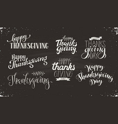 Thanksgiving text on blackboard vector