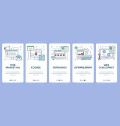 Thin line flat design web marketing concept vector