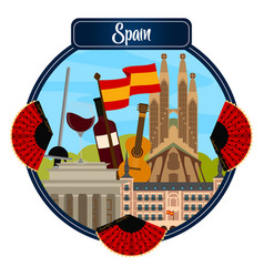 Travel to spain vector