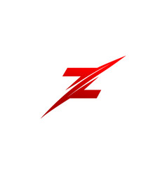 trendy creative stylish sliced z initial based vector image
