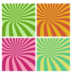 Tunnel vortex in multiple color stripe pattern vector