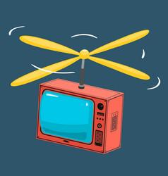 Tv with propeller vector